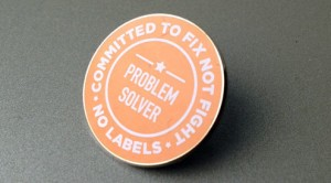 No Labels Problem Solvers Pin